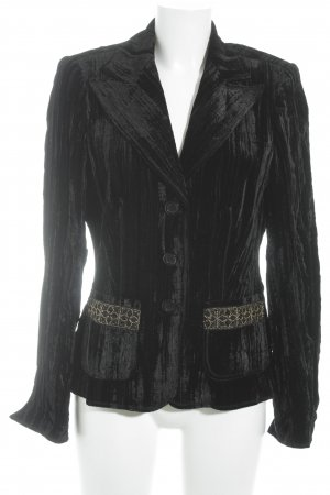 Cassani Tweedblazer schwarz-goldfarben Business-Look