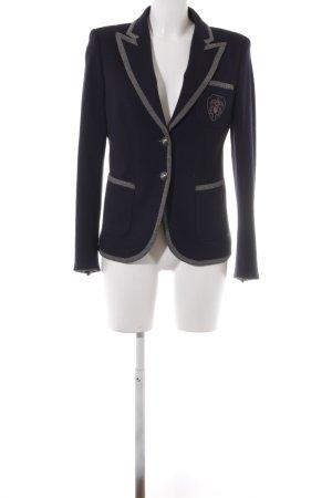 Cassani Blazer en laine bleu foncé style décontracté