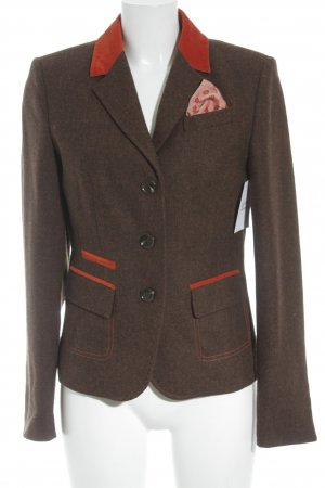 Cassani Wool Blazer grey brown-neon orange extravagant style