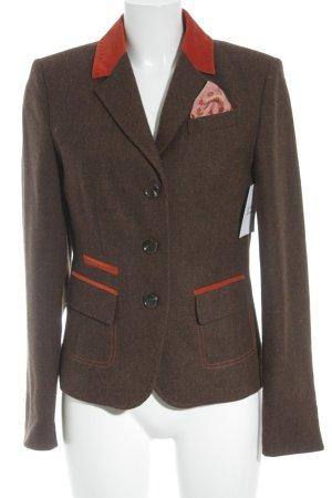 Cassani Woll-Blazer graubraun-neonorange extravaganter Stil