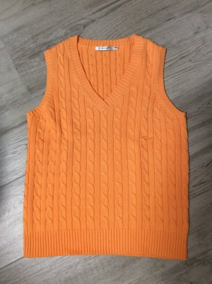 Cassis Cardigan en maille fine orange