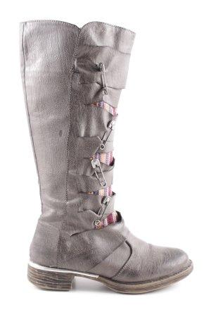 Cassis Stivale militare marrone-grigio stile casual