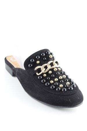 Cassis Slipper schwarz extravaganter Stil