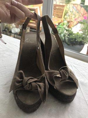 Castañer Wedge Sandals dark brown