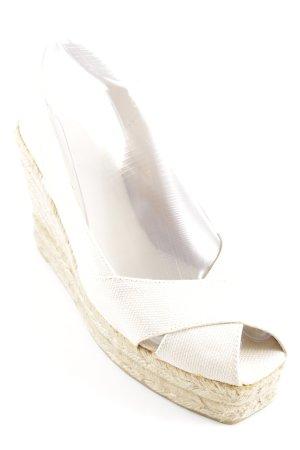 Castañer Platform High-Heeled Sandal cream-sand brown casual look