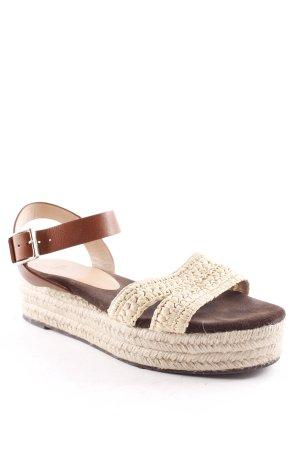 Castañer Platform High-Heeled Sandal light brown-cream casual look