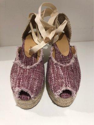 Castañer Wedge Sandals cream-mauve