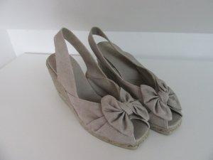 Castañer Sandals light grey cotton