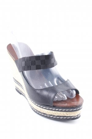 Castañer Wedge Sandals brown-black '90s style