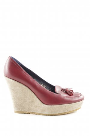 Castañer Wedge Sandals red-natural white casual look