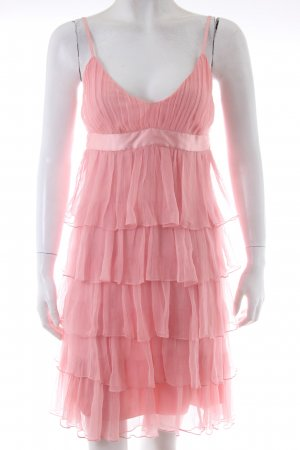 Castro Flounce Dress pink viscose