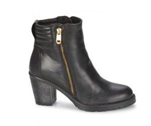 Casual Attitude LEDER Stiefeletten Schuhe schwarz Gr.39 NEU