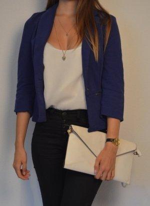 Casual Blauer Stoffblazer von Zara