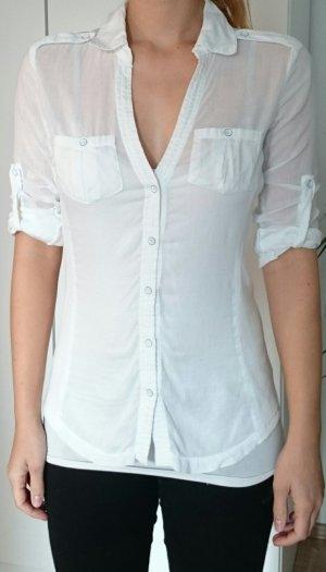 Casual Bluse von Mango in weiß