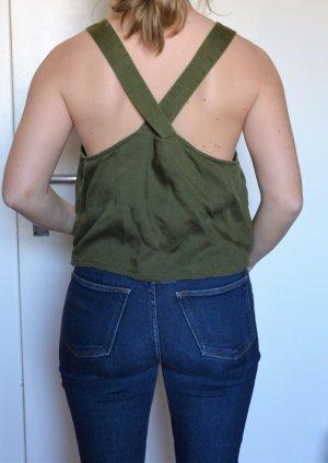 Casual boxy Top mit breiten Trägern - Leinenmischgewebe