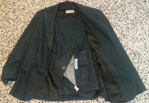 Gerry Weber Tailleur pantalone blu scuro Tessuto misto