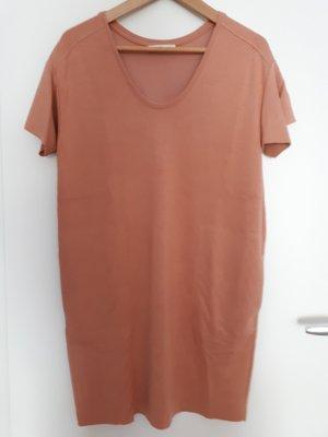 Zara Vestido de manga corta multicolor Viscosa