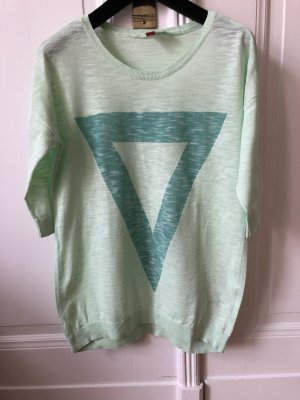 H&M Divided Pull oversize turquoise-bleu cadet coton