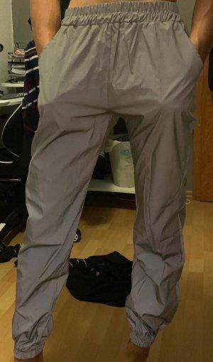 Alive Pantalone a vita alta argento