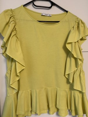 Mango Blusa Crash giallo lime