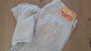 Replay Pantalone cinque tasche beige chiaro-grigio chiaro Lino