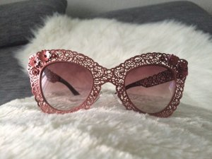 Cat eye filigree Rose gold Metal Lace Flower Sunglasses Sonnenbrille #Dolce&Gabbana Style