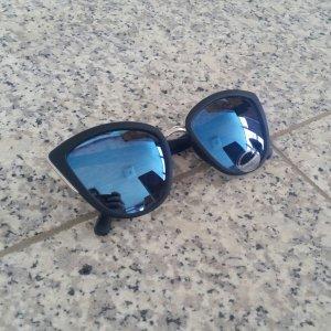 Cat-Eye Sonnenbrille verspiegelte Gläser Gothic