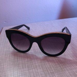 Stella McCartney Occhiale a farfalla nero-sabbia