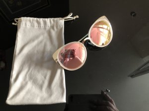 Ronde zonnebril roségoud