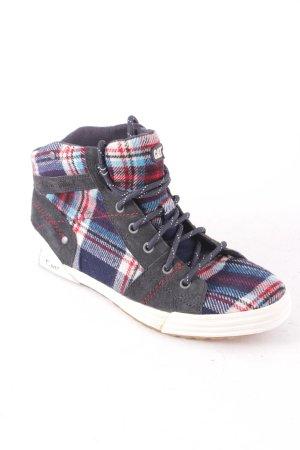 CAT High Top Sneaker Karomuster Casual-Look