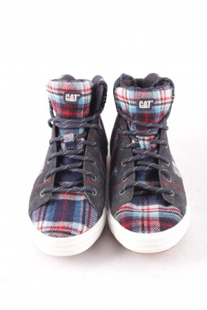 CAT High Top Sneaker Karomuster Casual-Look