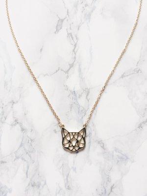 cat katze geometric art halskette statment minimalist trend blogger statement