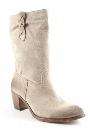 Catarina Martins Booties beige-grey brown color gradient second hand look