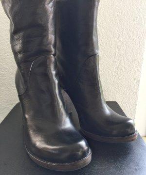 Catarina Martins !! schwarze Leder Boots / Stiefel Gr. 39