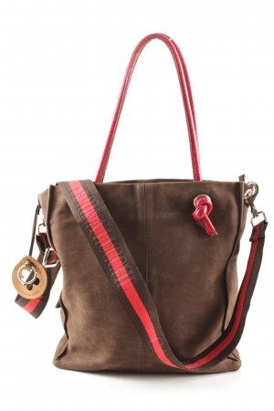 Caterina Lucchi Carry Bag light brown-red striped pattern casual look