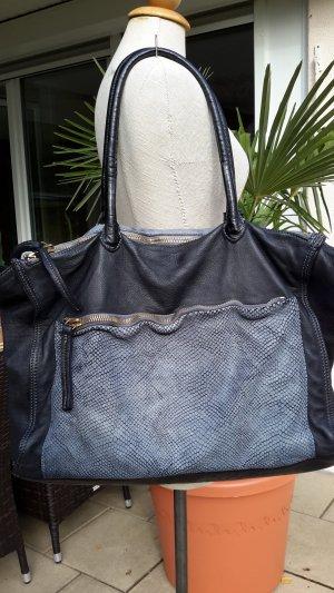 *CATERINA LUCCHI*  Shopper XL antrazit/blaugrau NEU NP€500,- 1/2 Preis