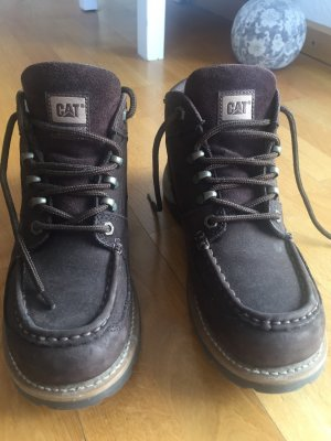 Caterpillar Damen Leder-Boots in braun Gr. 41