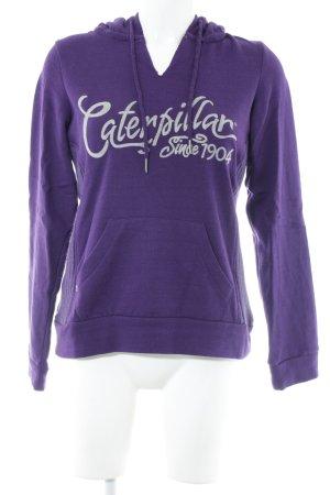 Caterpillar Hooded Sweatshirt dark violet casual look