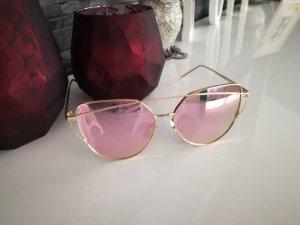 Cateye Sonnenbrille gold rose