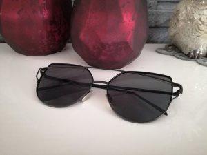 Cateye Sonnenbrille schwarz