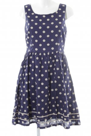 Cath Kidston A Line Dress blue-cream spot pattern casual look