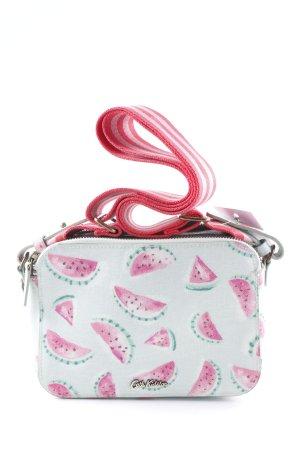 Cath Kidston Borsa a spalla verde-grigio-rosa motivo astratto stile casual