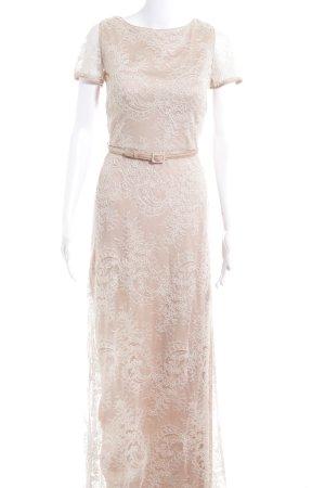 Catherine Deane Spitzenkleid weiß-camel florales Muster Elegant