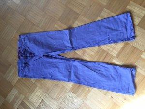 Jeans bootcut violet-lilas coton
