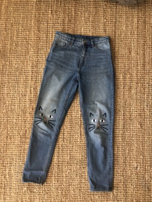 Monki Jeans a vita alta multicolore