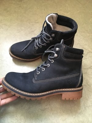 Tamaris Lace-up Boots dark blue leather