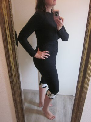 Catsuit Jumpsuit Schwarz 3/4 Hochgeschlossen Gr S/M Sisley