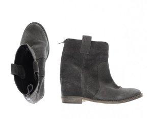 Catwalk Boots Wildleder 39 38 Hidden Wedge Grau Keilabsatz