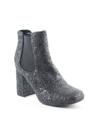 Catwalk Chelsea laarzen zwart glitter-achtig