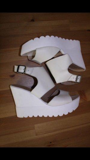 Catwalk Platform Sandals white